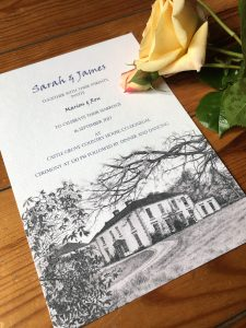 Sarah and James - Wedding invitations by Gilly