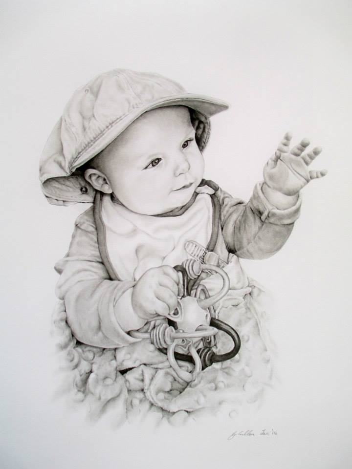 Baby portrait by artist Gilly Cullen