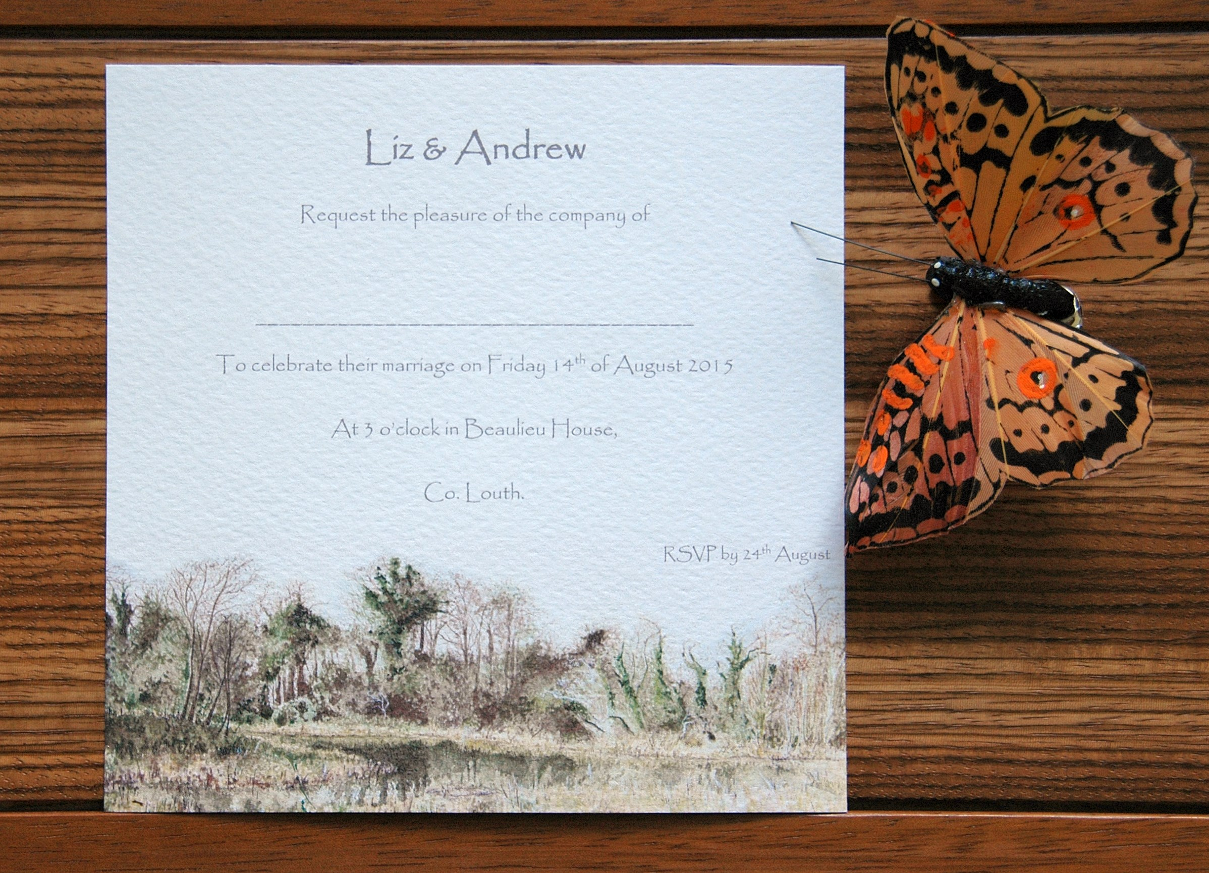 Liz and Andrew Wedding Invites by Gilly Cullen