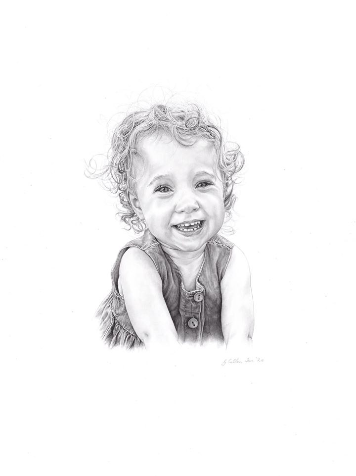 Child's portrait by Gilly Cullen